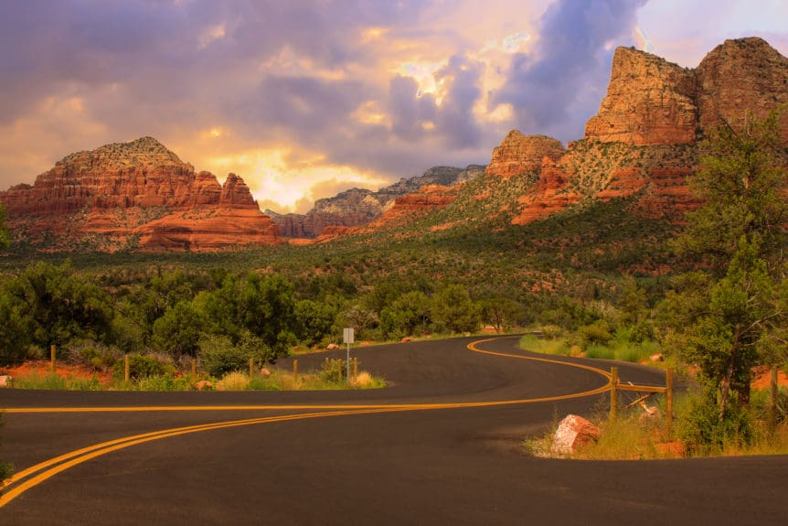 Beautiful Sunset Scenery of Sedona, Arizona