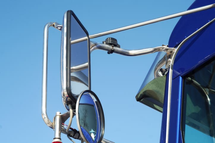 mirror close-up truck delivery transportation